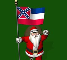 Santa Claus With Flag Of Mississippi by Mythos57