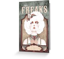The Beauty Freaks - The Albino Greeting Card