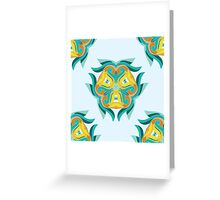 Psychedelic jungle kaleidoscope ornament 1 Greeting Card