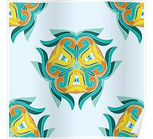 Psychedelic jungle kaleidoscope ornament 1 Poster