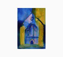 Valle Crucis Abbey (yellow & blue) Unisex T-Shirt