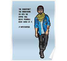 Hipster Spock Poster