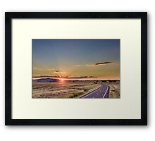 Sunset over Gunnedah Framed Print