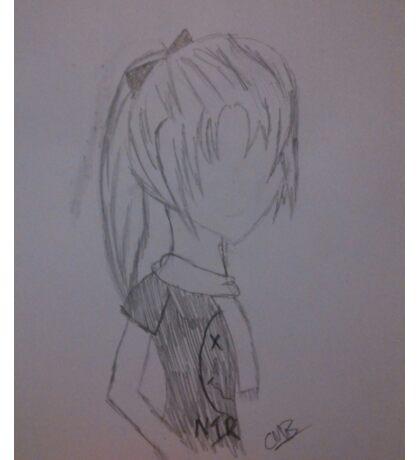 Anime Girl w/ Nirvana Shirt Sticker