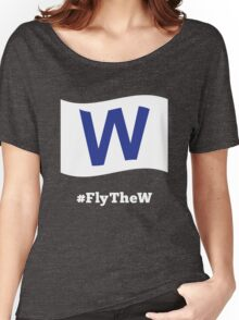 Chicago Cubs #FlyTheW Women's Relaxed Fit T-Shirt