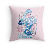 Starter's family: Primarina Throw Pillow