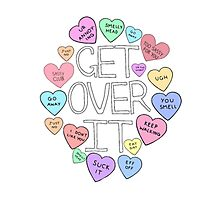 get over it hearts Photographic Print
