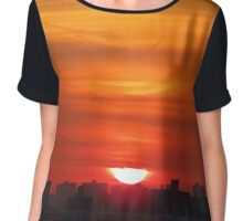New York City Sunset Chiffon Top