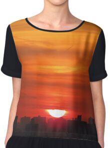 New York City Sunset Chiffon Top