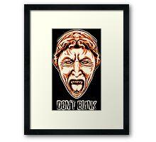 Weeping Angel - Don't Blink - Doctor Who Framed Print