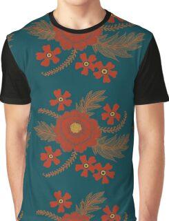 Red Peony Graphic T-Shirt
