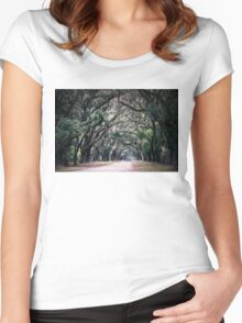Ghosts Among The Trees of Savannah Women's Fitted Scoop T-Shirt