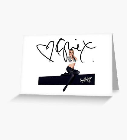 Kylie Minogue Body Language Greeting Card