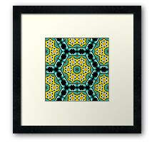 Psychedelic jungle kaleidoscope ornament 2 Framed Print
