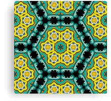 Psychedelic jungle kaleidoscope ornament 2 Canvas Print