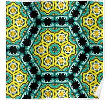 Psychedelic jungle kaleidoscope ornament 2 Poster