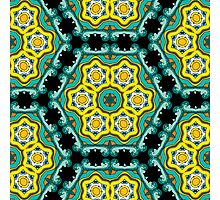 Psychedelic jungle kaleidoscope ornament 2 Photographic Print