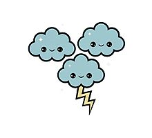 thunder clouds cute Photographic Print