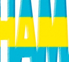 Bahamas Font with Bahamian Flag Sticker