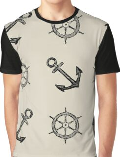 Anchor and Helm Graphic T-Shirt