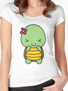 cute baby turtle Women's Fitted Scoop T-Shirt