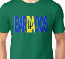 Barbados Font with Flag Unisex T-Shirt