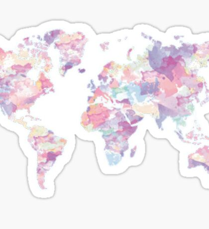 gradient map of the world Sticker