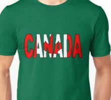 Canada Font with Canadian Flag Unisex T-Shirt