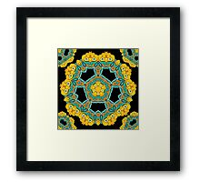 Psychedelic jungle kaleidoscope ornament 3 Framed Print