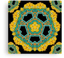 Psychedelic jungle kaleidoscope ornament 3 Canvas Print