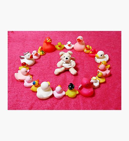 Angel Bear in Duck Blessing Circle Photographic Print