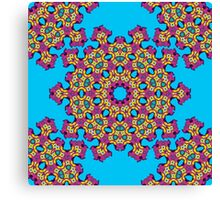 Psychedelic jungle kaleidoscope ornament 4 Canvas Print
