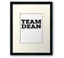 Team Dean Framed Print