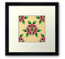 Psychedelic jungle kaleidoscope ornament 5 Framed Print