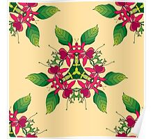 Psychedelic jungle kaleidoscope ornament 5 Poster