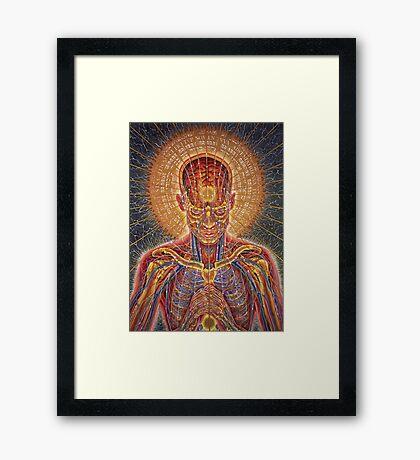 Alex Grey Man Power Framed Print