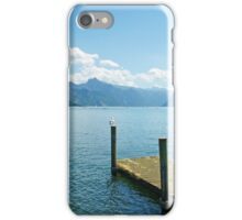 Peaceful lake in the Alps iPhone Case/Skin