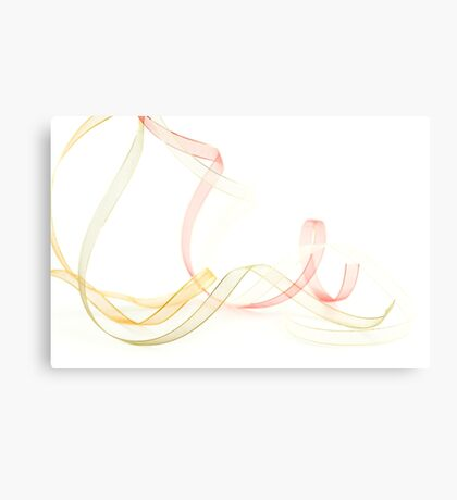 Holiday Ribbon on white background Canvas Print