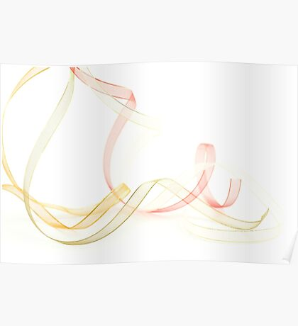 Holiday Ribbon on white background Poster