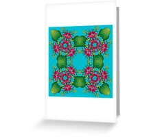 Psychedelic jungle kaleidoscope ornament 6 Greeting Card