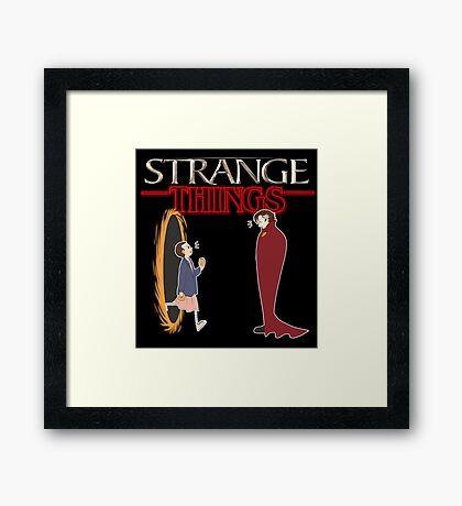 Strange Things Framed Print