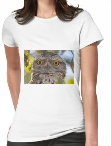 Tawny Frogmouth Womens Fitted T-Shirt