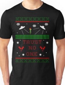 Trust No One Ugly Christmas Sweater Unisex T-Shirt