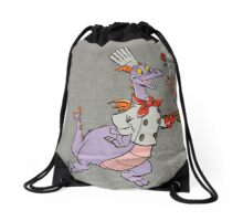 Dragon Figment Dreamfinder Dreamport Epcot Mascot Drawstring Bag