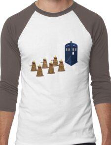A Dalek Christmas - Dalek the Halls Men's Baseball ¾ T-Shirt