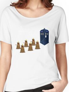A Dalek Christmas - Dalek the Halls Women's Relaxed Fit T-Shirt