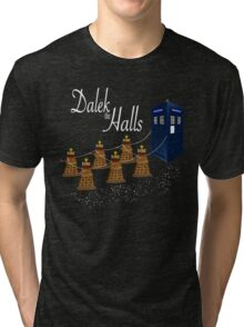 A Dalek Christmas - Dalek the Halls Tri-blend T-Shirt