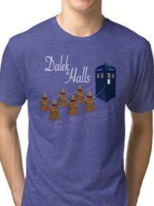 A Dalek Christmas - Dalek the Halls Tri-blend T-Shirt