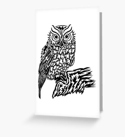 Hoo's There Greeting Card
