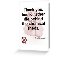 V for Vendetta Quote Greeting Card